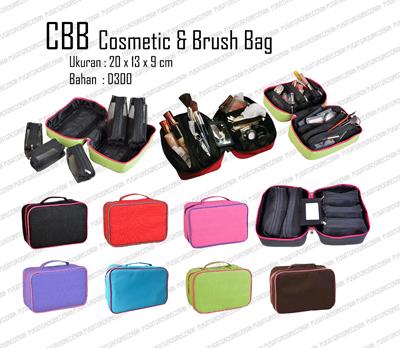 CBB Cosmetic Brush Bag (Tempat Kosmetik dengan 5 pouch) dengan cermin