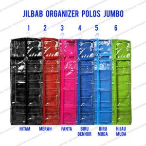 Paket Jilbab Organizer Polos Jumbo